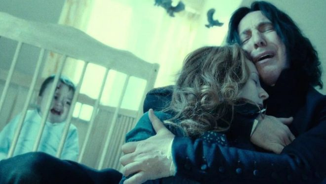 Snape cried over Lily's death