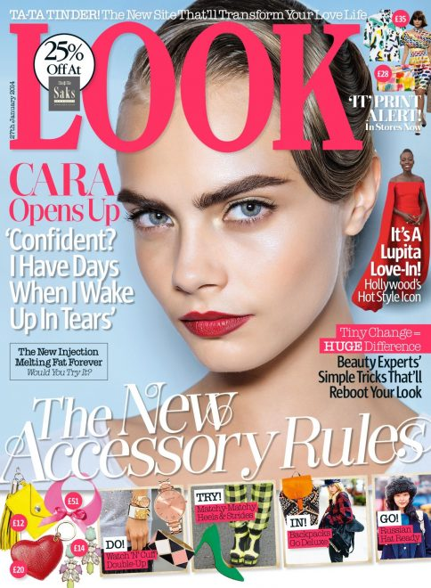 Cara Delevingne In Look Magazine Uk January 2014 Issue_1