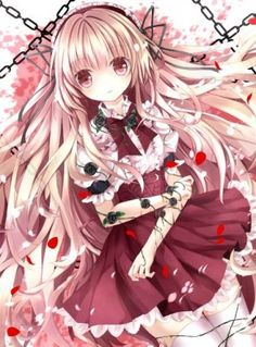61abe7f7946b5015be30673135076145 beautiful red roses anime pictures