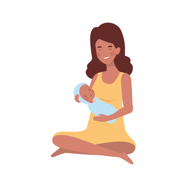 woman with newborn baby her arms 25030 41351