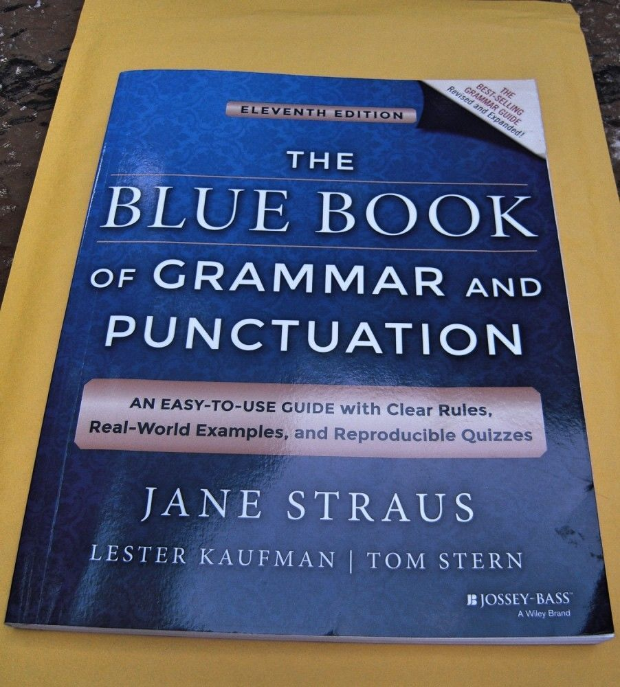 cuốn The Blue Book of Grammar and Punctuation